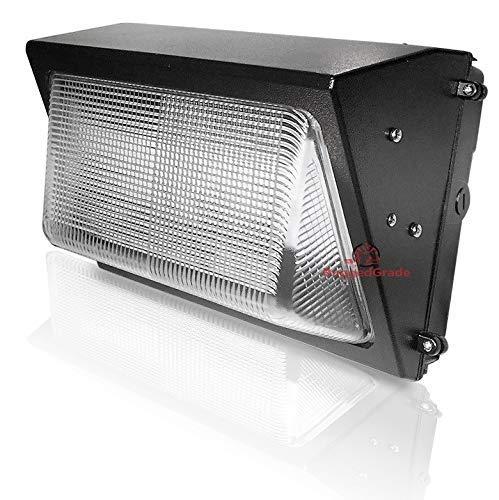 60 Watt LED Wall Pack Light – 7,232 Lumens- Dusk to Dawn Sensor (photocell) built in - High Efficiency 120 Lumen to Watt - 5000K Bright White - 400-500W