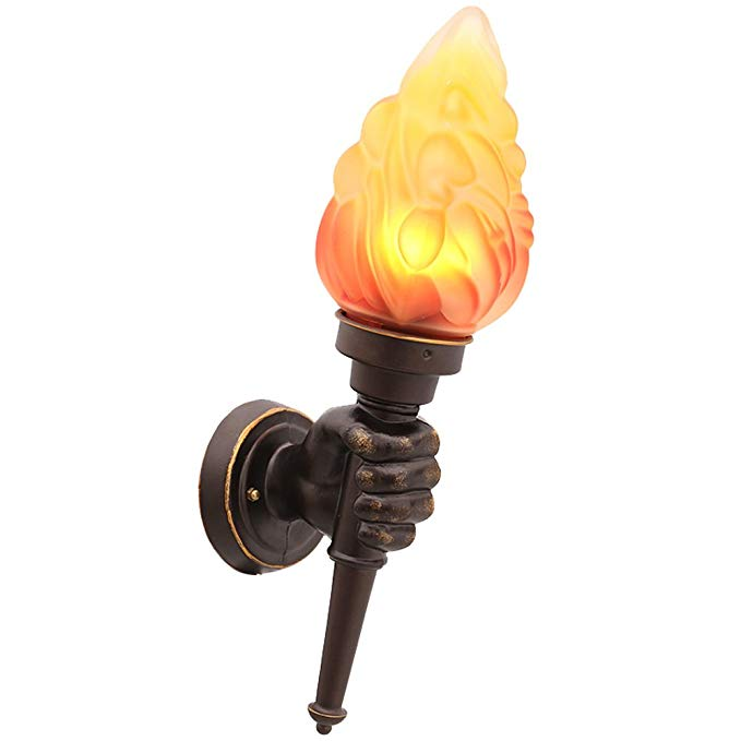 Retro Industrial Wall Light Creative Personality American Cafe Stairway Aisle Corridor Bar Decorative Torch Wall Light ( Design : Left )