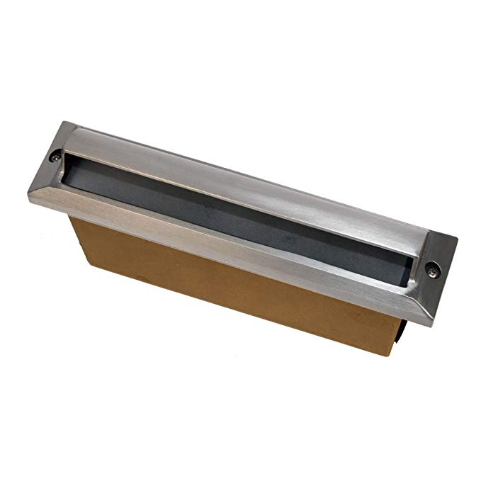 Best Quality Lighting LV54SLV Brass Constructed Outdoor Step Light with Clear Glass Shade, Stainless Steel Finish