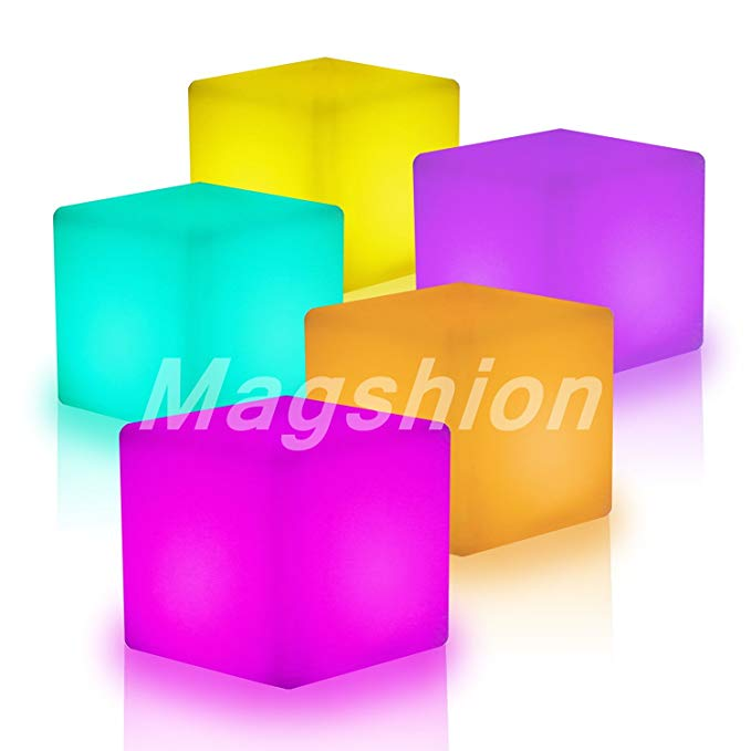 Magshion*Illuminated Cocktail Tables Chair Color-Changing LED Lighting Stool NightStands Chair Table